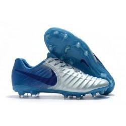 Nike Tiempo Legend 7 FG Nuovo Scarpa da Calcio - Metallico Blu