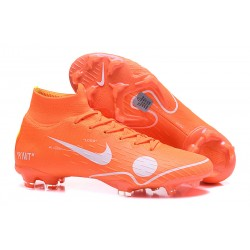 Nike Scarpa Off-White 2018 Mercurial Superfly 6 Elite FG -Arancio