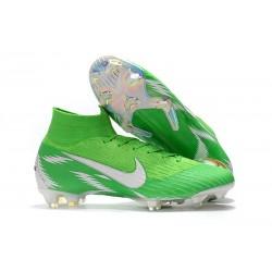 Nike Mercurial Superfly 6 Elite FG Nuovo Scarpe Calcio - Verde Argento