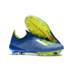 adidas X 18+ FG Scarpe da Calcio - Blu Verde
