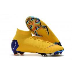 Nike Mercurial Superfly 6 Elite FG Nuovo Scarpe Calcio - Giallo Blu