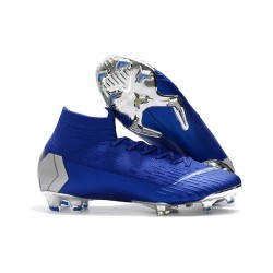 Nike Scarpe Mercurial Superfly VI Elite FG - Blu Argent