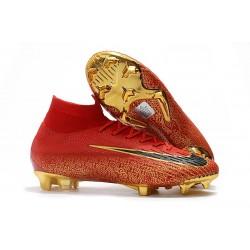 Ronaldo Nike Scarpe Mercurial Superfly VI 360 Elite FG - Rosso Oro