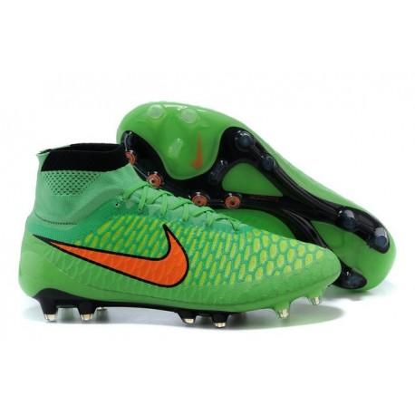 Scarpe da Calcio Uomo Nike Magista Obra FG Verde Veleno/Arancione Totale
