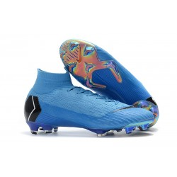 Nike Scarpe Mercurial Superfly VI 360 Elite FG - Blu Nero