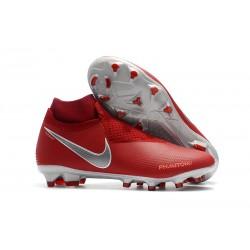 Scarpe da Calcio Nuovo Nike Phantom Vision Elite DF FG - Rosso Argento