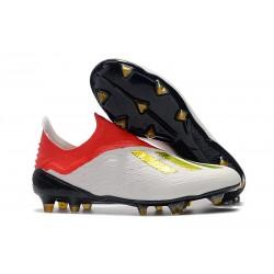 adidas X 18+ FG Scarpe da Calcio - Bianca Rosso Oro
