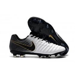 Scarpa da Calcio Nike Tiempo Legend VII Elite FG - Bianca Nero Oro