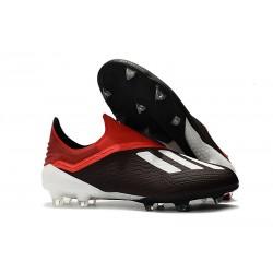 adidas X 18+ FG Scarpe da Calcio - Nero Rosso Bianca