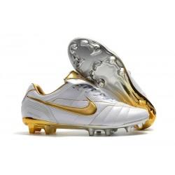 Scarpa da Calcio Nike Tiempo Legend VII Elite FG - Bianco Oro