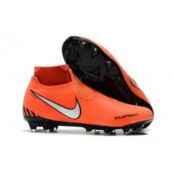 Nike Phantom Vsn Elite Df Fg Scarpa da Calcio - Arancio Nero Argento