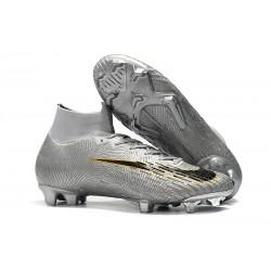 Scarpe da Calcio Nike Mercurial Superfly VI Elite FG - Argento Nero