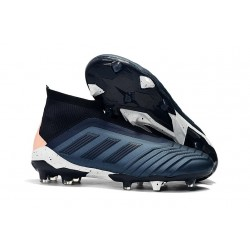 Scarpe da Calcio adidas Predator 18 + FG - Nero Ciano