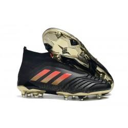 Scarpe da Calcio adidas Predator 18 + FG - Nero Rosso Oro
