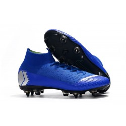 Nike Mercurial Superfly 360 Elite SG-PRO Anti-Clog Azul Argento