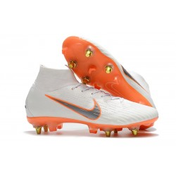 Nike Mercurial Superfly 360 Elite SG-PRO Anti-Clog Bianco Arancio