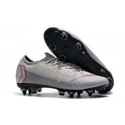 Scarpe da Calcio Nike Mercurial Vapor 12 AC SG-Pro Grigio Rosso