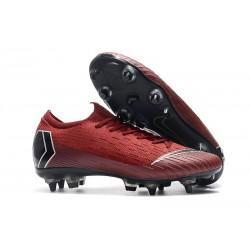 Scarpe da Calcio Nike Mercurial Vapor 12 AC SG-Pro Rosso Nero