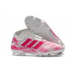Adidas Scarpe da Calcio Nemeziz 18+ FG - Rosa Bianco
